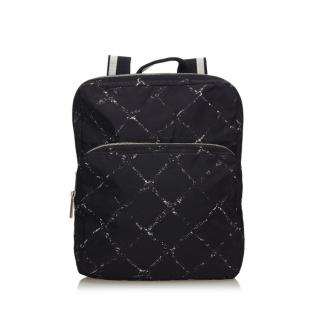 Chanel Criss cross Old Travel Line Nylon Backpack