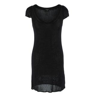 Joseph Black Sheer Knit Mini Dress