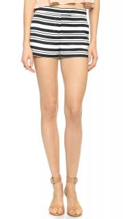 Tibi Striped Mini Shorts