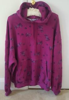 Balenciaga Pink & Purple Floral Hoodie