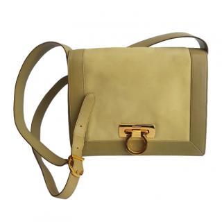 Salvatore Ferragamo Ganicini Collection Green Shoulder Bag
