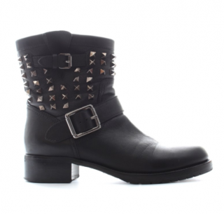 Valentino rockstud leather biker boots
