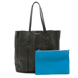 Balenciaga Grey & Blue Everyday Tote S Bag
