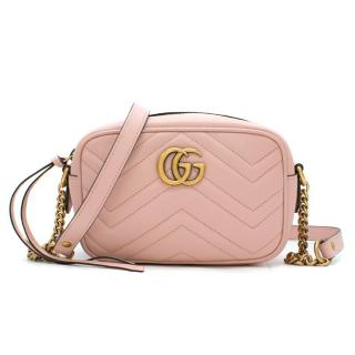 Gucci Marmont Baby Pink Matelasse Mini Camera Bag