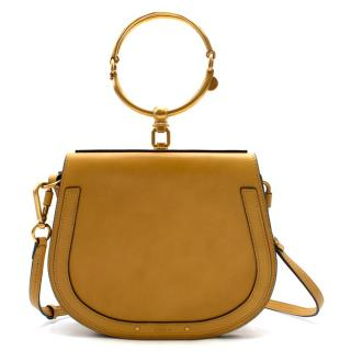 Chloe Yellow Smooth & Suede Calfskin Small Nile Bracelet Bag