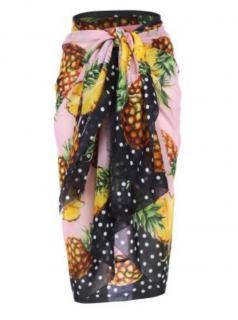 Dolce & Gabbana tropicale polka dot silk beachwear/sarong/scarf