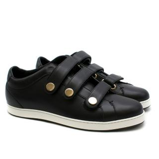 Jimmy Choo NY Studded Black Leather Trainers