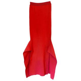 Setlla McCartney Red Ribbed Midi Skirt