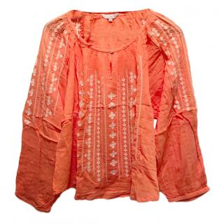 Star Mela Coral Embroidered Tunic