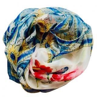 Dolce & Gabbana Sicily Vase Print Scarf