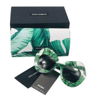 Dolce & Gabbana Banana Leaf Print Sunglasses