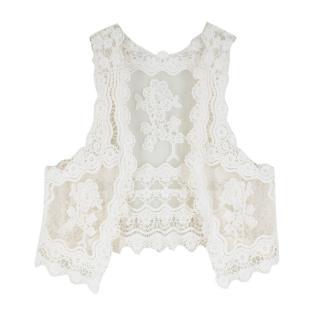 Bespoke White Floral Lace Waistcoat