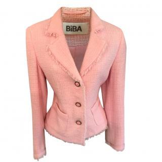 Biba Pink Boucle Tweed Jacket