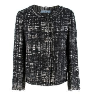 Prada  Black and White Tweed Jacket