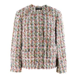 Dolce & Gabbana Multicoloured Tweed Boucle Blazer