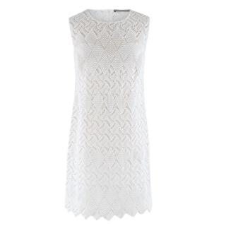 Ermanno Scervino White Lace Embroidered Dress