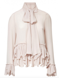 See by Chloe Pink Ruffle Pussy Bow Blouse
