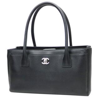 Chanel Black Cerf Executive Tote