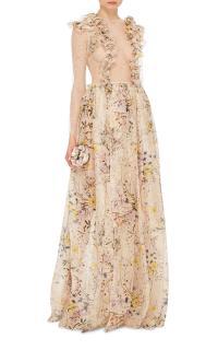 Houghton Floral Silk Organza Contessa Lace Dress