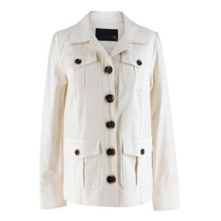 Talie NK White Linen blend Jacket