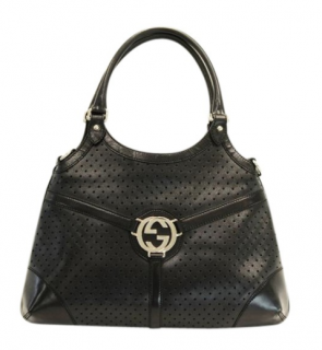 Gucci Reins Perforated Leather Satchel Bag