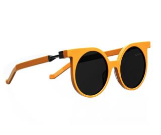 VAVA White Label Yellow Round WL 0001 Sunglasses