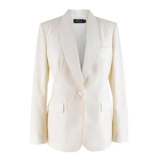Polo Ralph Lauren White Wool Blazer