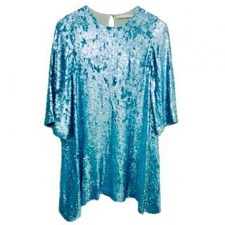 Amen Blue Sequin Swing Dress