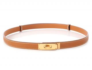 Hermes Epsom Leather Gold Kelly Belt