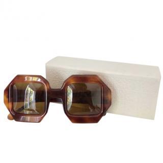 Loewe Tortoiseshell Hexagonal Sunglasses