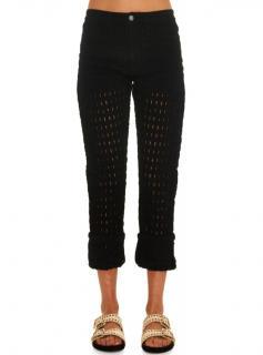 Isabel Marant Black Broderie-Anglais Pierce Jeans