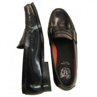 Cole Haan Black leather Men's Penny Loafers shoes sz42
