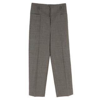 Stella McCartney Grey Wool Straight Trousers