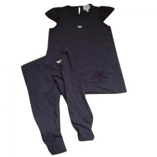 Armani Junior Blouse & Leggings Set