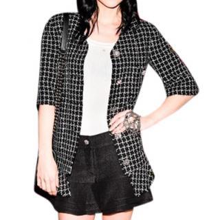 Chanel Runway Black & White Tweed Check Blazer