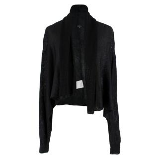 Joseph Black Knit Draped Cardigan