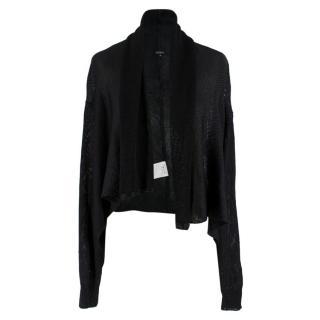 Joseph Black Knit Draped Cardigan