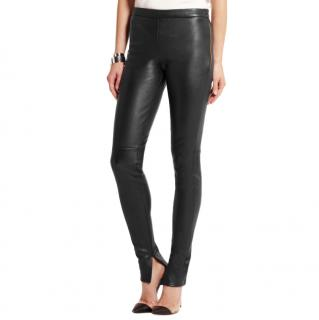 Roland Mouret Black Mortimer Leather Skinny Trousers