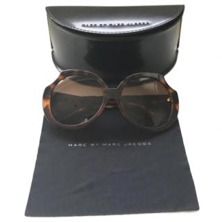 Marc Jacobs oversize round cutout tortoiseshell sunglasses