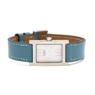 Hermes Tandem TA1.210 Watch W/ Blue Leather Strap