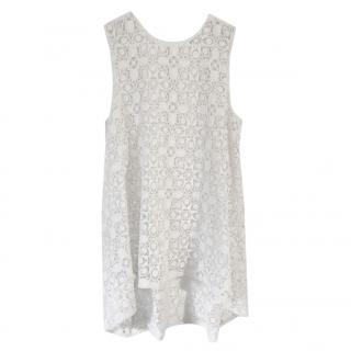 Scanlan Theodore Embroidered Lace Mini Dress