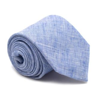 AD 56 Blue Linen Tie