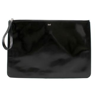 D&G Black Patent Leather Pouch