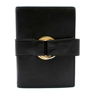 Cartier Black Leather Wrap Agenda