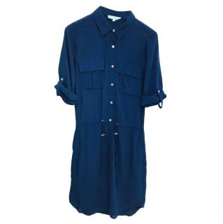 Melissa Odabash Navy Button Down Dress