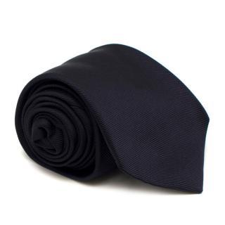 Drakes Navy Silk Tie