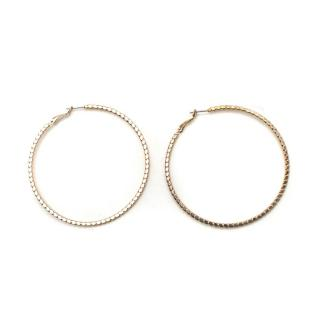 Bespoke Gold Tone Hoop Earrings