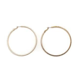 Bespoke Gold Tone Hoop Earrings