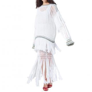 Sonia Rykiel fishnet fringe jumper dress