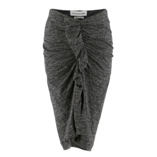Isabel Marant Etoile Grey Knit Ruched Skirt